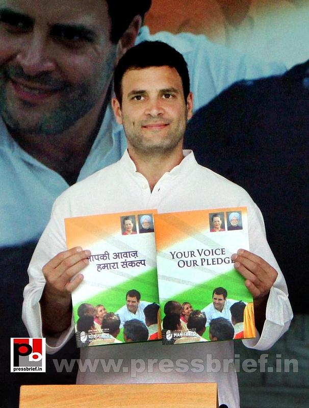 Rahul Gandhi during Congress manifesto release (6)