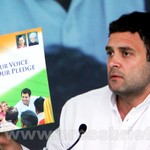 Rahul Gandhi during Congress manifesto release