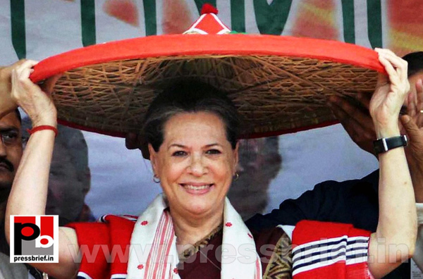 Sonia Gandhi campaigns in Assam by Pressbrief In