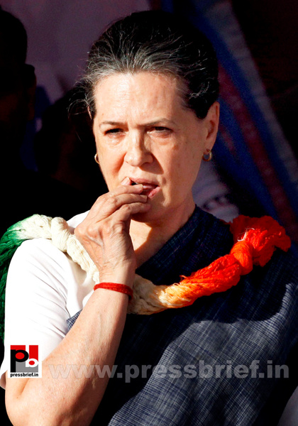 Sonia Gandhi in New Delhi  (2) by Pressbrief In