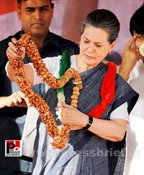 Sonia Gandhi in New Delhi