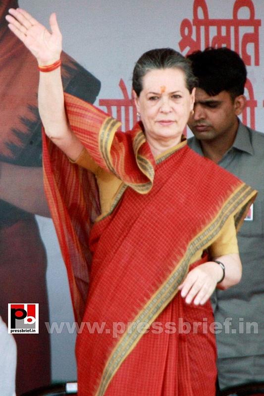 Sonia Gandhi at Mewat, Haryana (1)