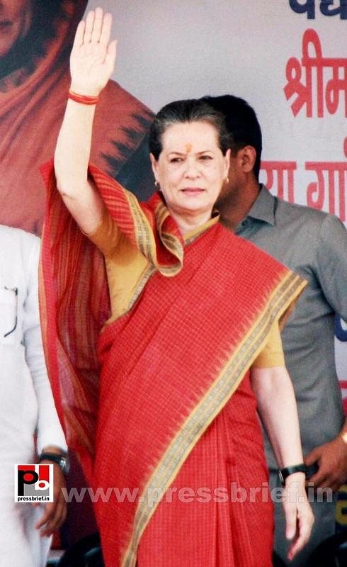 Sonia Gandhi at Mewat, Haryana (2)