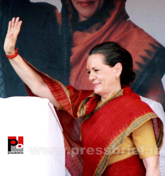 Sonia Gandhi at Mewat, Haryana (3) by Pressbrief In