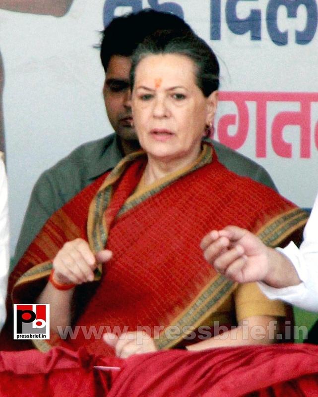 Sonia Gandhi at Mewat, Haryana (5)