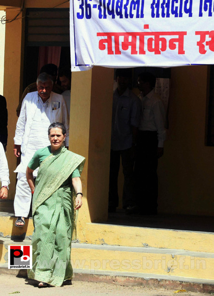Sonia Gandhi files nomination from Raebareli (3) by...