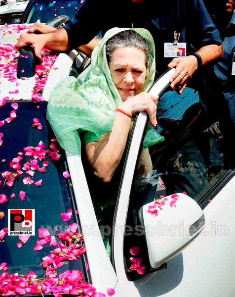Sonia Gandhi files nomination from Raebareli (5) by...