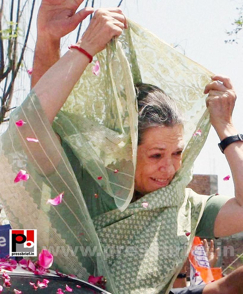 Sonia Gandhi files nomination from Raebareli (10) by...