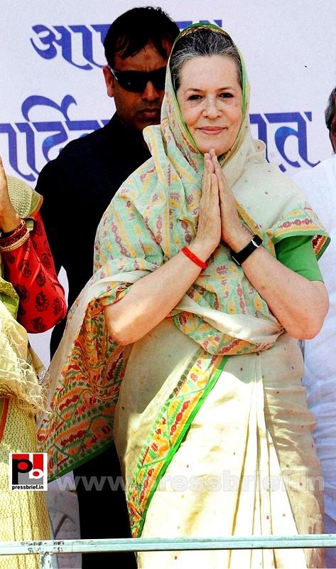 Sonia Gandhi at Sasaram, Bihar (1)