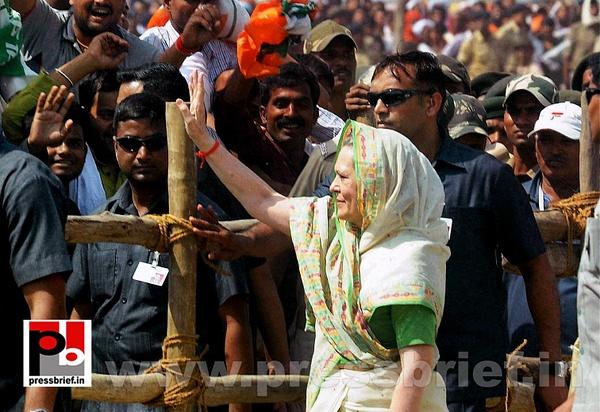 Sonia Gandhi at Sasaram, Bihar by Pressbrief In