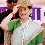 Sonia Gandhi at Madhya Pradesh