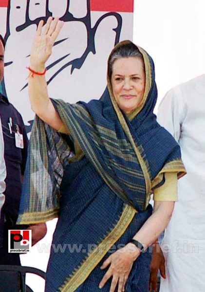 Sonia Gandhi at Aligarh, UP (1) by Pressbrief In
