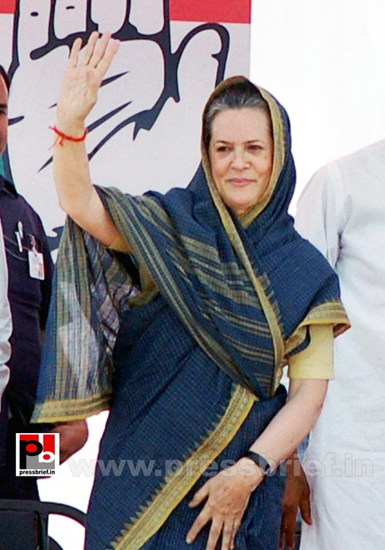Sonia Gandhi at Aligarh, UP (1)