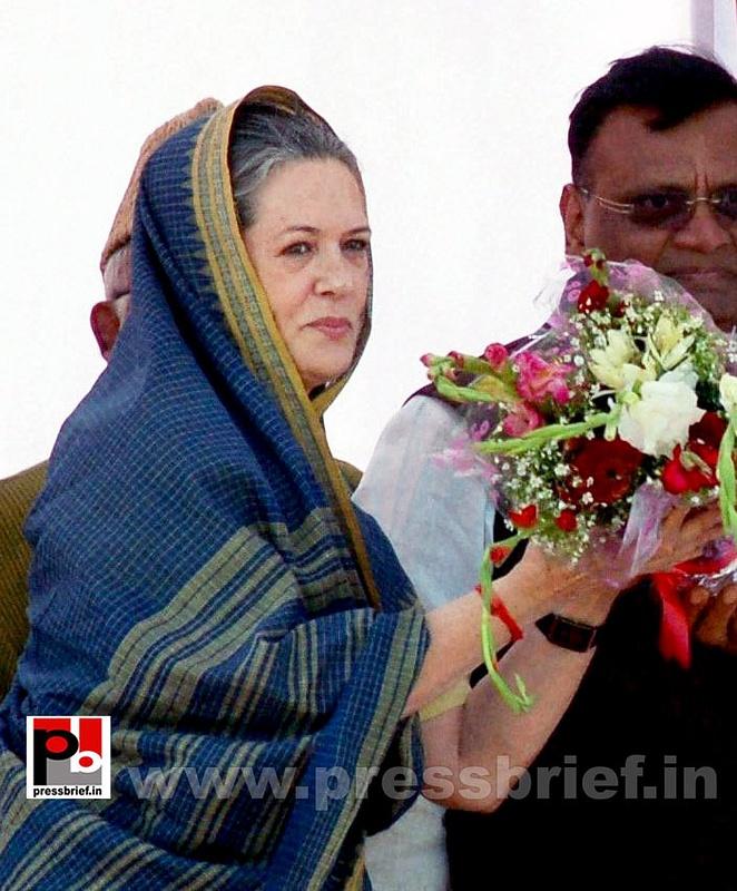 Sonia Gandhi at Aligarh, UP (3)