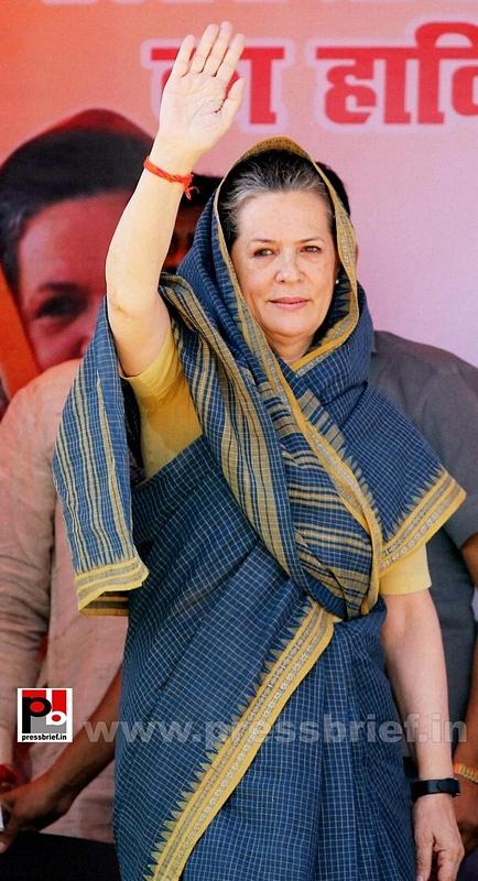 Sonia Gandhi at Ramgarh, Jharkhand (1)