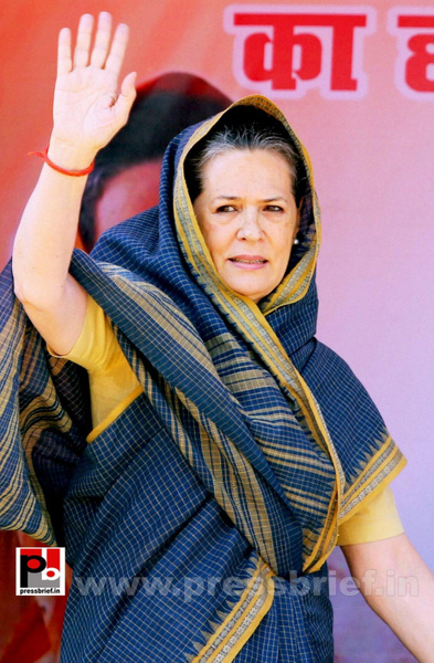Sonia Gandhi at Ramgarh, Jharkhand (2) by Pressbrief In