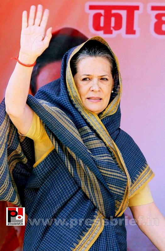 Sonia Gandhi at Ramgarh, Jharkhand (2)