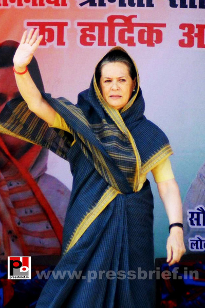 Sonia Gandhi at Ramgarh, Jharkhand (4) by Pressbrief In