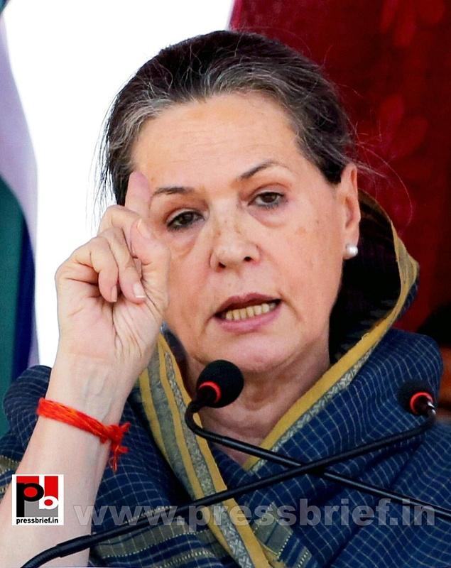 Sonia Gandhi at Ramgarh, Jharkhand (6)