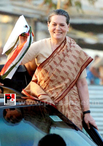 Sonia Gandhi at Nagpur by Pressbrief In