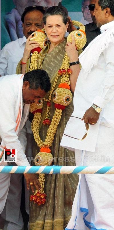 Sonia Gandhi at Kolar, Karnataka (4)