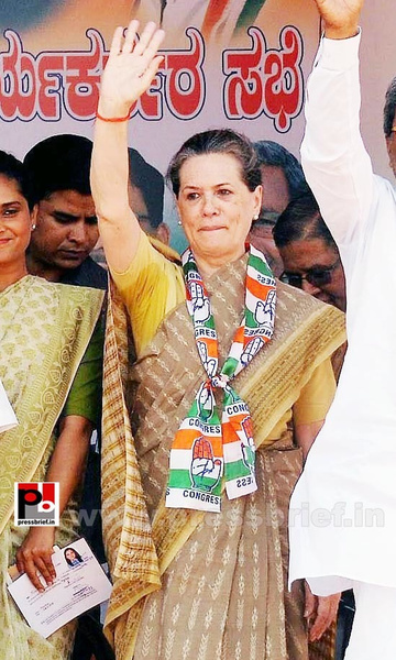 Sonia Gandhi at Kolar, Karnataka (5) by Pressbrief In