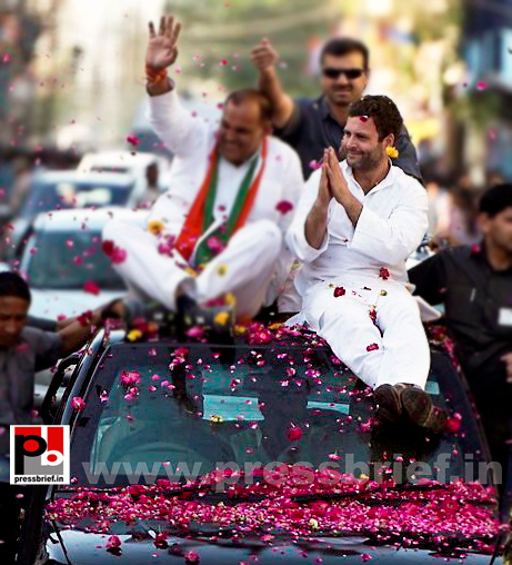 Rahul Gandhi at Gwalior, MP (2)