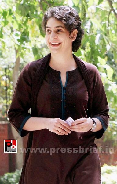 Priyanka Gandhi votes in New Delhi (1) by Pressbrief In