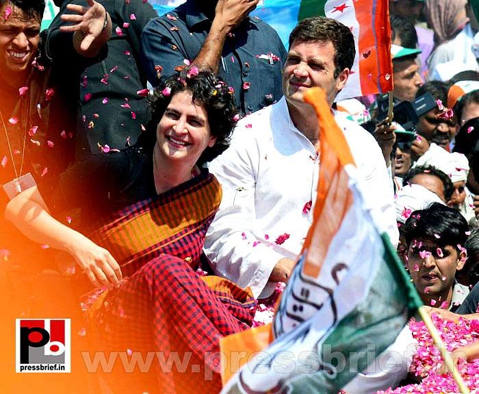 Rahul Gandhi's road show in Amethi (6)
