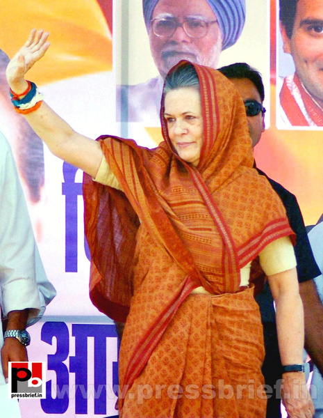 Sonia Gandhi at Jaipur, Rajasthan (1) by Pressbrief In