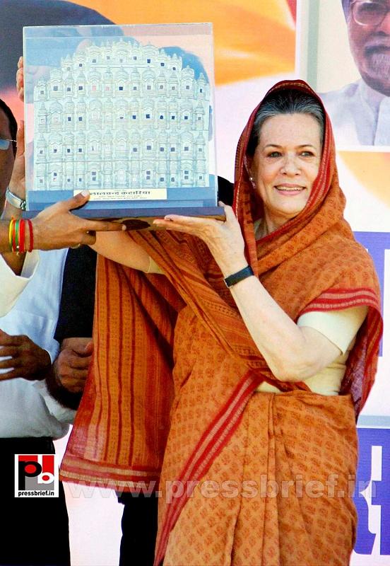 Sonia Gandhi at Jaipur, Rajasthan (7)