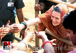 Sonia Gandhi at Jaipur, Rajasthan
