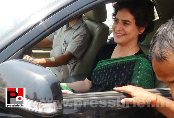 Priyanka Gandhi Vadra in Amethi by Pressbrief In