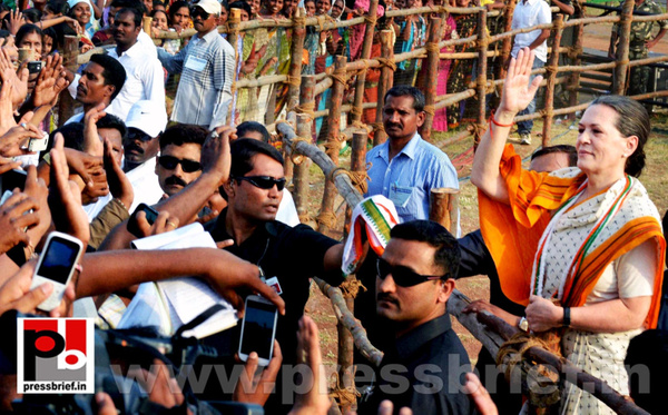 Sonia Gandhi in Telangana by Pressbrief In