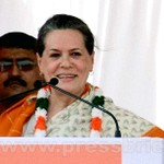 Sonia Gandhi at Neemuch, MP