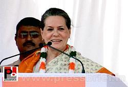 Sonia Gandhi at Neemuch, MP