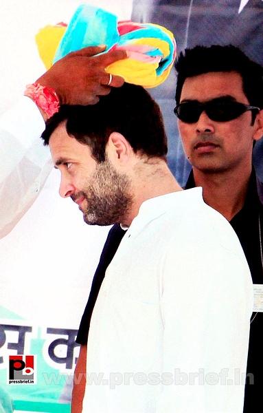Rahul Gandhi at Karauli in Rajasthan (2) by Pressbrief In
