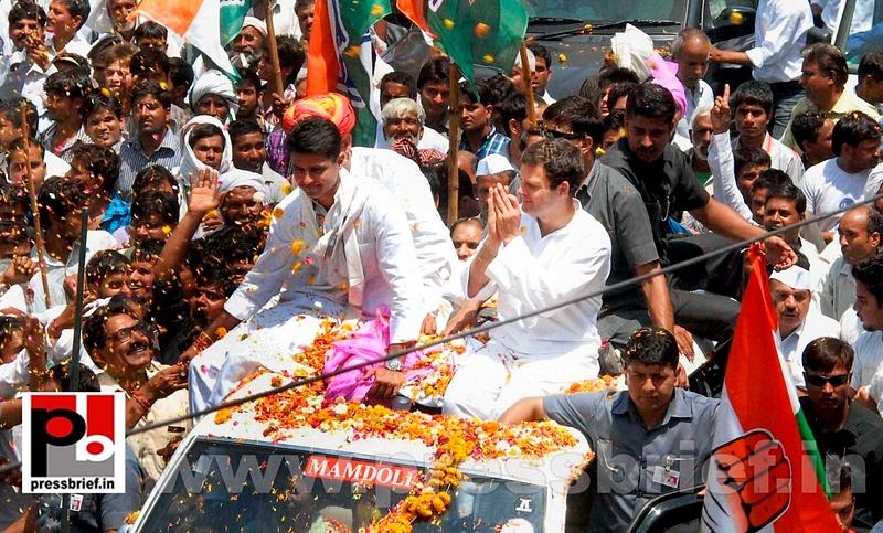 Rahul Gandhi's roadshow at Alwar in Rajasthan (4)