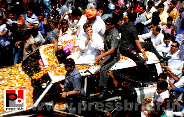 Rahul Gandhi's roadshow at Alwar in Rajasthan by...