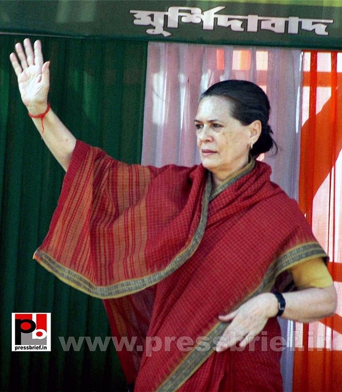Sonia Gandhi at West Bengal (1)