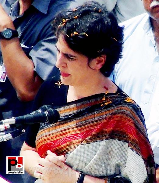 Priyanka Gandhi in Raebareli, UP by Pressbrief In by...