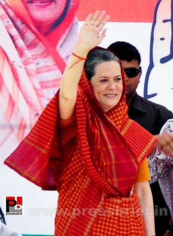 Sonia Gandhi in Barnala, Punjab (1)