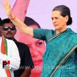 Sonia Gandhi at Hyderabad