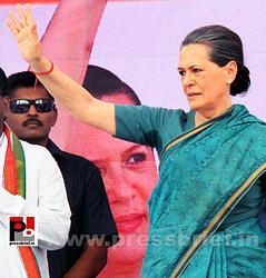 Sonia Gandhi at Hyderabad