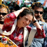 Road show by Priyanka Gandhi at Raebareli