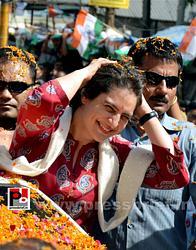 Road show by Priyanka Gandhi at Raebareli