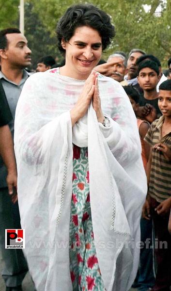 Priyanka Gandhi mingles with people (1) by Pressbrief In