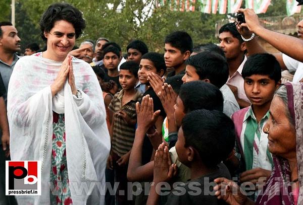 Priyanka Gandhi mingles with people (2) by Pressbrief In