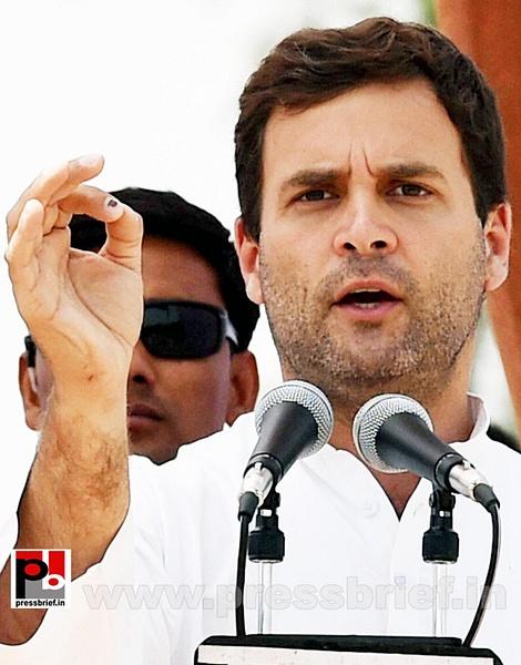 Rahul Gandhi addresses rally in Amethi (6) by Pressbrief...