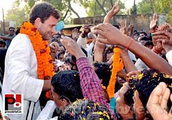 Rahul Gandhi addresses rally in Amethi